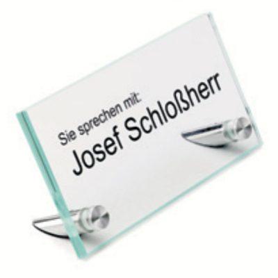 Glas Tischaufsteller Namensschilder